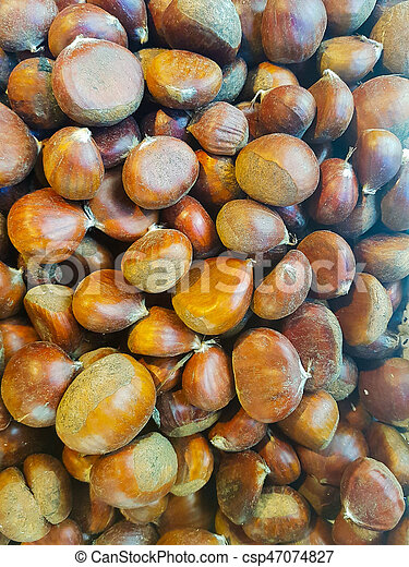 Chestnut meal background - csp47074827