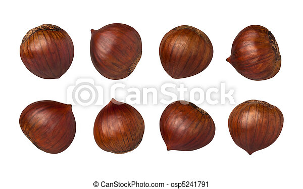 Chestnuts Isolated - csp5241791