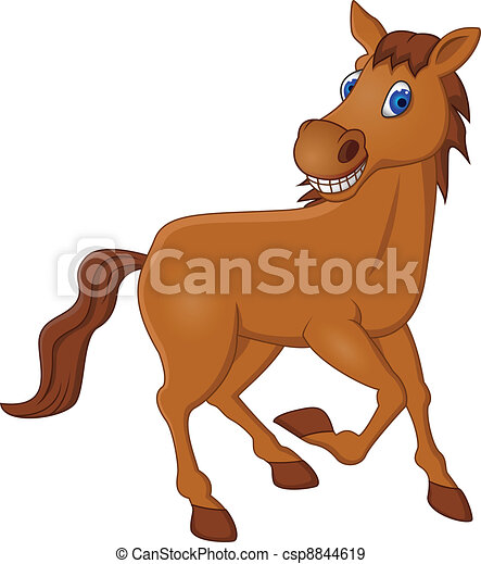 cheval, dessin animé - csp8844619