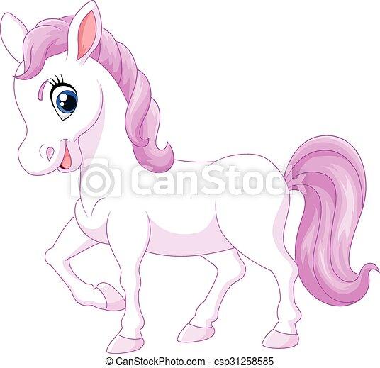 Cheval heureux poney isol dessin anim cheval poney isol illustration vecteur fond - Dessin anime avec des poneys ...