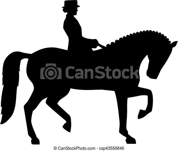 dessin cheval dressage