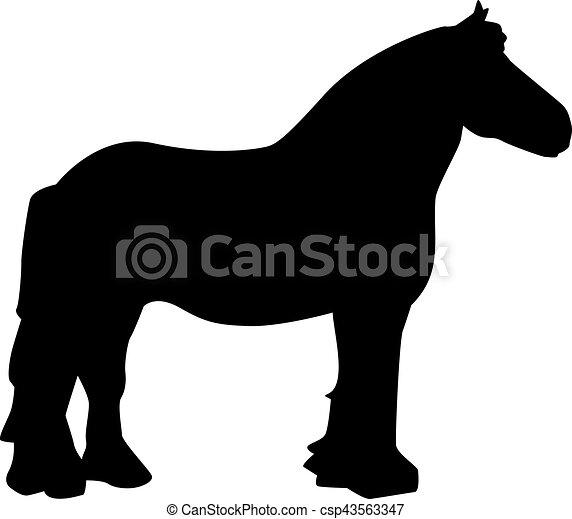 Cheval trait insensible - Dessin cheval de trait ...
