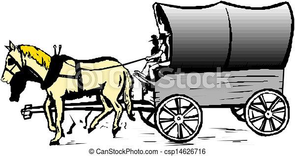 Cheval vecteur charrette - Clipart cheval ...