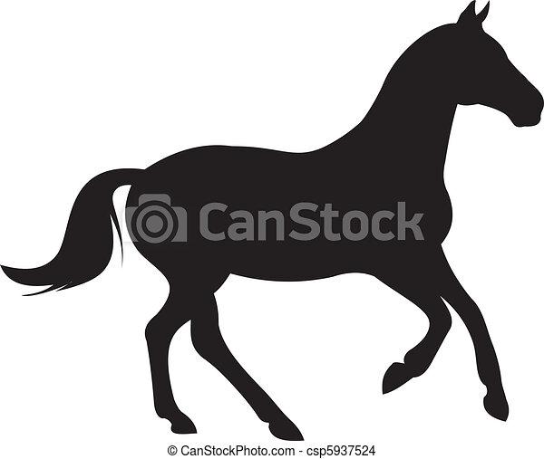 dessin cheval silhouette