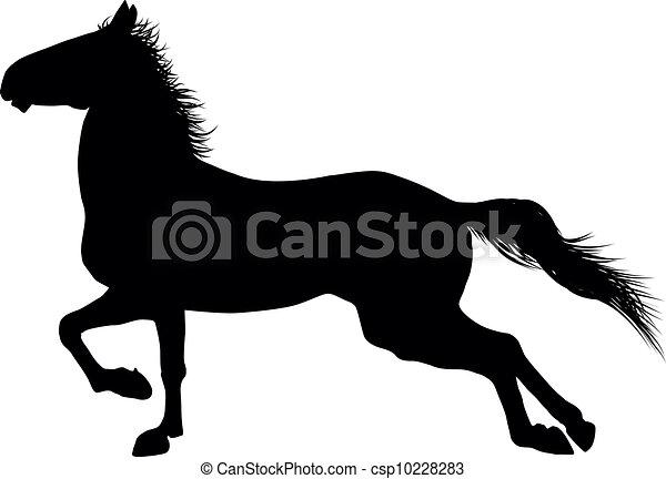 cheval, vecteur - csp10228283