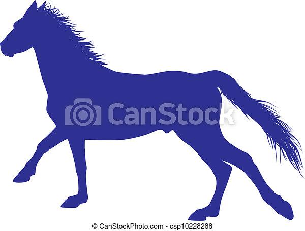 cheval, vecteur - csp10228288
