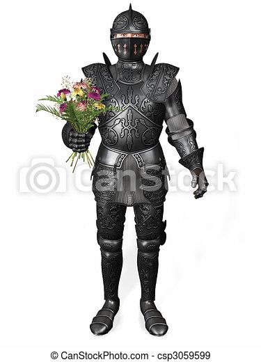 Chevalier armure bouquet tenue entiers romantique - Dessin armure ...