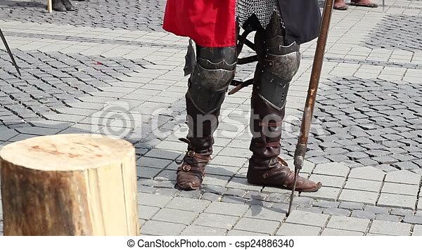 chevalier, moyen âge, bottes