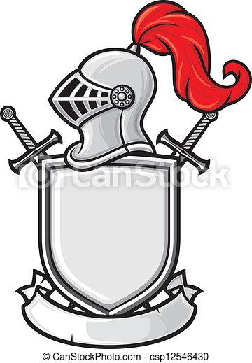 chevalier, moyen-âge, casque - csp12546430
