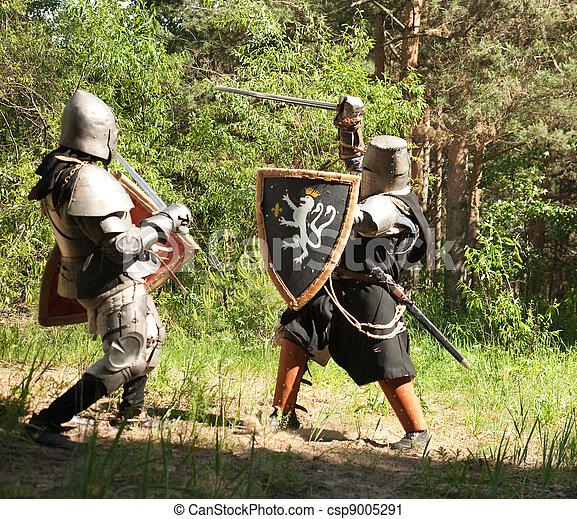 chevaliers combat armure chevaliers deux combat for t photographie de stock rechercher. Black Bedroom Furniture Sets. Home Design Ideas