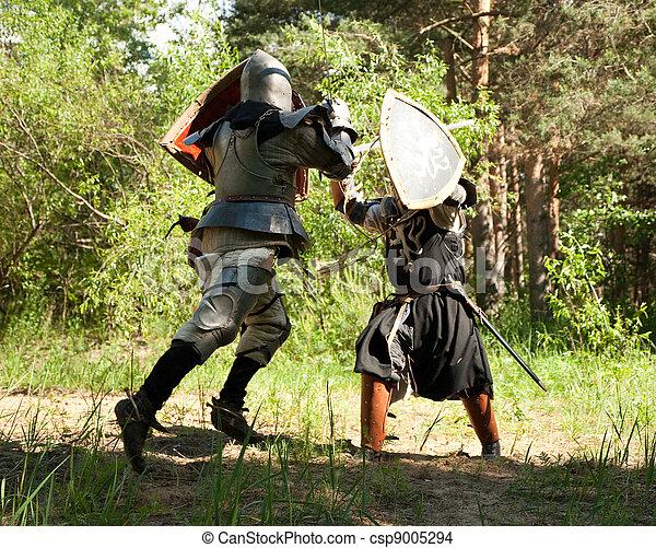 chevaliers combat armure chevaliers deux combat for t photo de stock rechercher. Black Bedroom Furniture Sets. Home Design Ideas