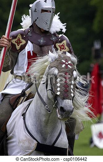 chevaliers, jouter - csp0106442