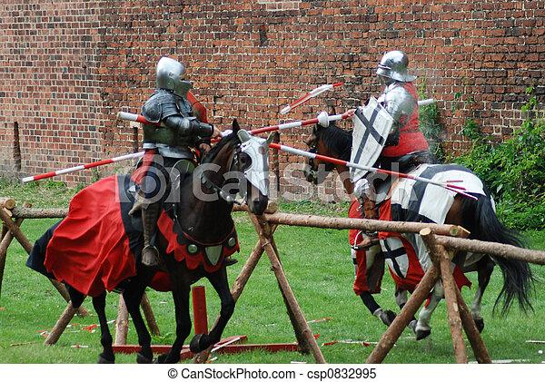 Top Images de stock de chevaliers, moyen-âge, jouter - (jousting  CY63