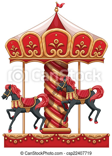 Carrousel Dessin chevaux, cavalcade, carrousel. chevaux, fond, cavalcade