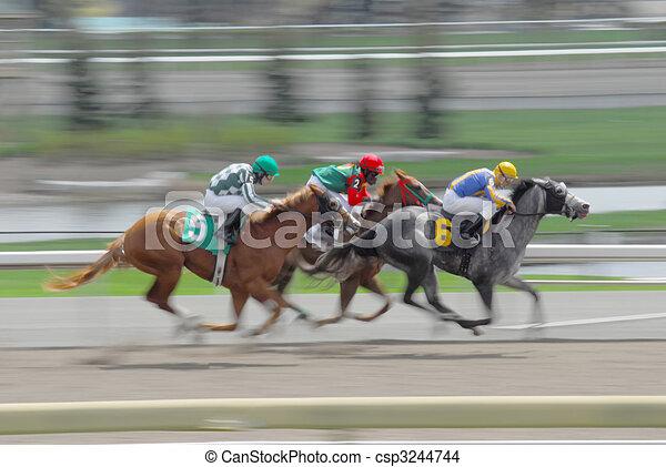 chevaux, course, expédier - csp3244744