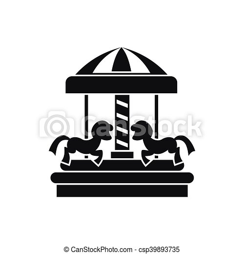 Chevaux Simple Style Carrousel Icone Chevaux Style Carrousel