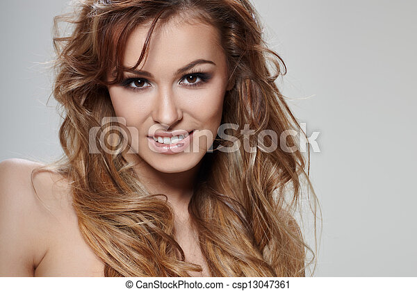 cheveux, bouclé - csp13047361