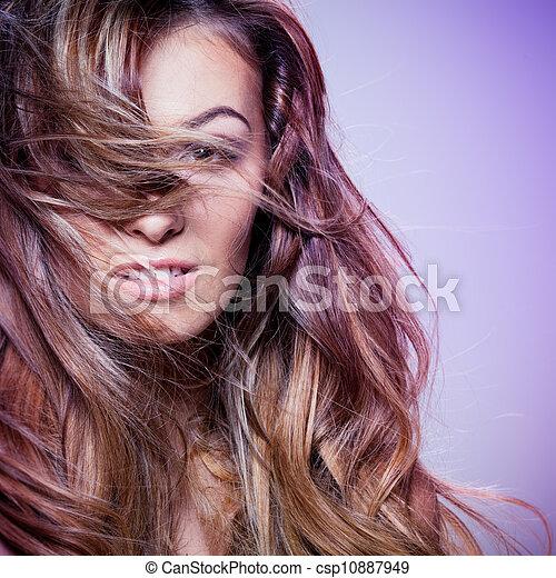 cheveux, bouclé - csp10887949