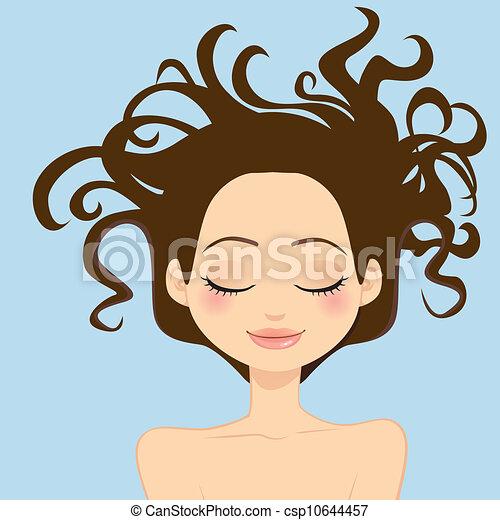 cheveux sauvages, femme - csp10644457