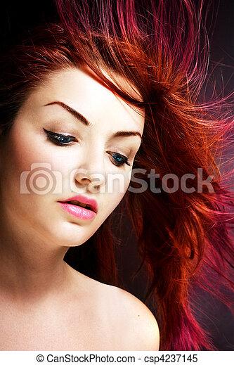 cheveux, vibrant - csp4237145