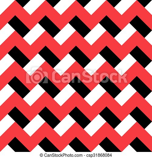 chevron red black pattern red white and black zigzag vector rh canstockphoto com Grey Chevron Design Vector Repeating Patterns Stencils