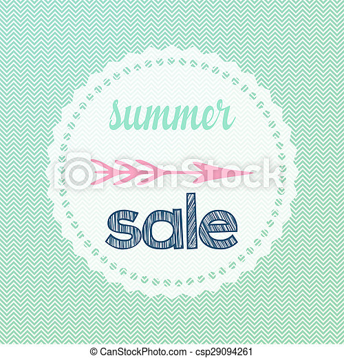 Chevron Summer Sale Sign Illustration Of Chevron Waves Patterned
