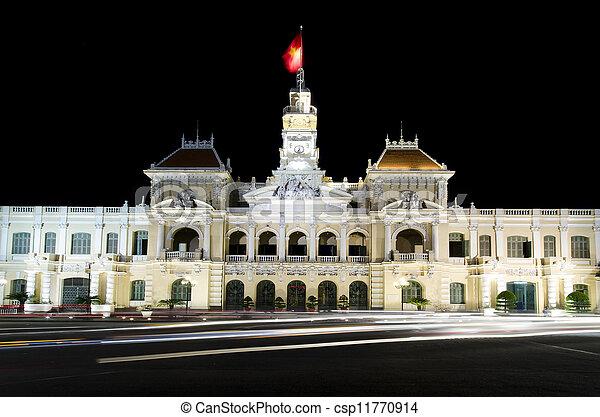 El ayuntamiento de Ho chi minh Vietnam - csp11770914