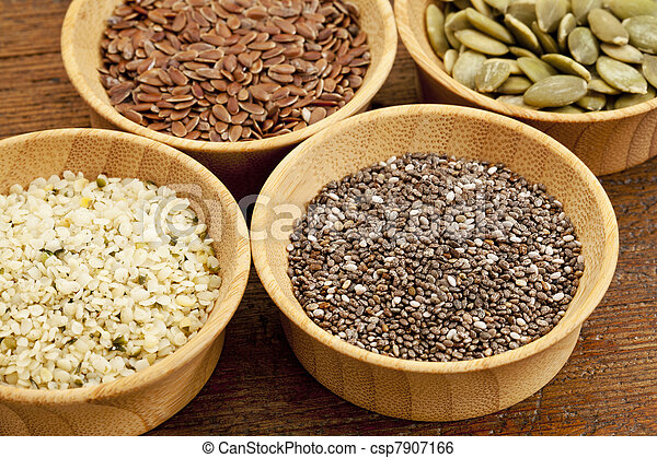 chia and other healthy seeds - csp7907166