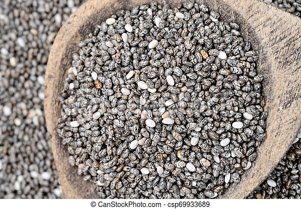 chia seed on table - csp69933689