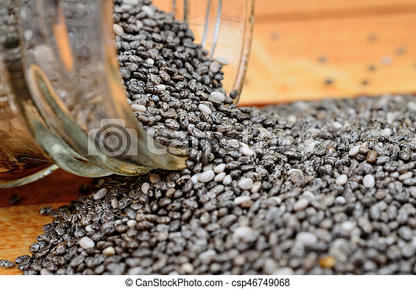 chia seed on table - csp46749068