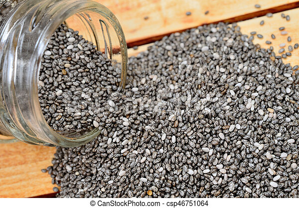 chia seed on table - csp46751064