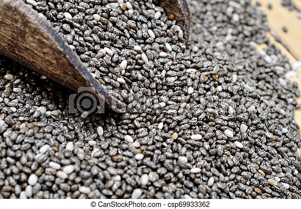 chia seed on table - csp69933362