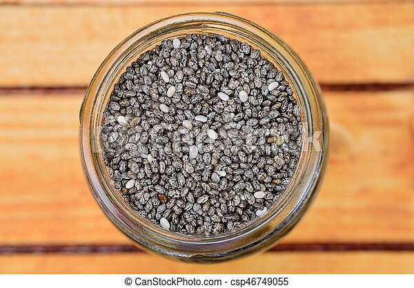chia seed on table - csp46749055