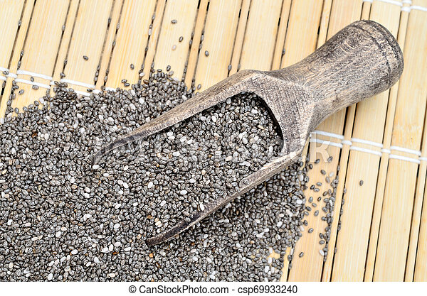 chia seed on table - csp69933240