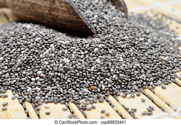 chia seed on table - csp69933441