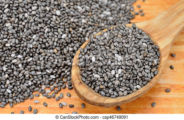 chia seed on table - csp46749091