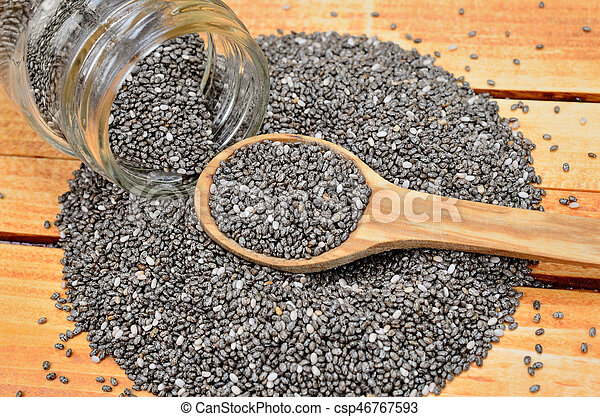 chia seed on table - csp46767593