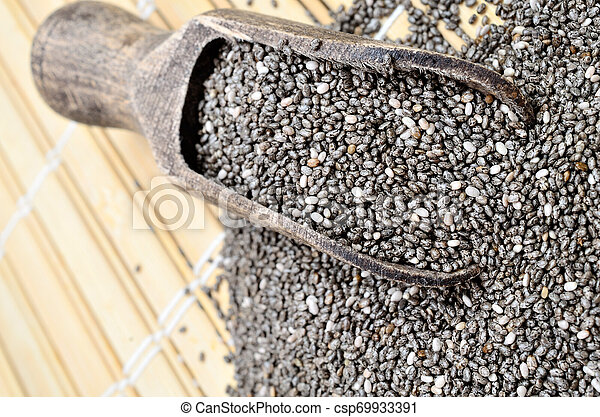 chia seed on table - csp69933391