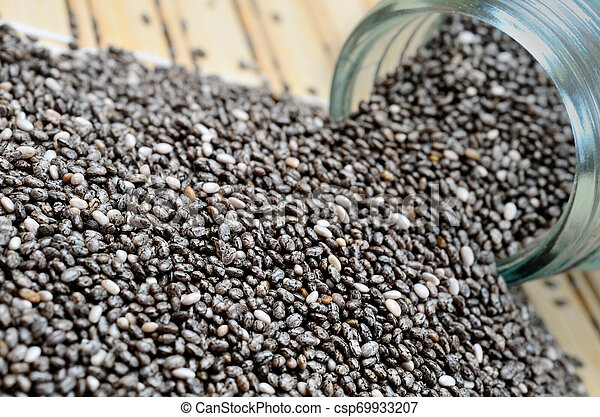 chia seed on table - csp69933207