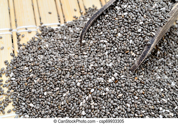 chia seed on table - csp69933305