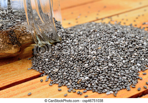 chia seed on table - csp46751038