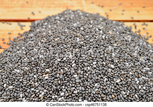 chia seed on table - csp46751138