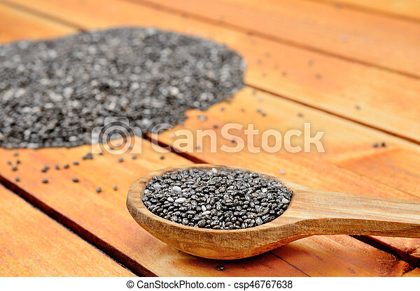 chia seed on table - csp46767638