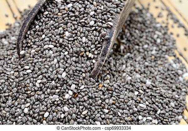 chia seed on table - csp69933334