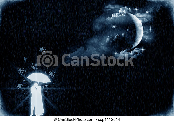 chiaro di luna, amanti - csp1112814