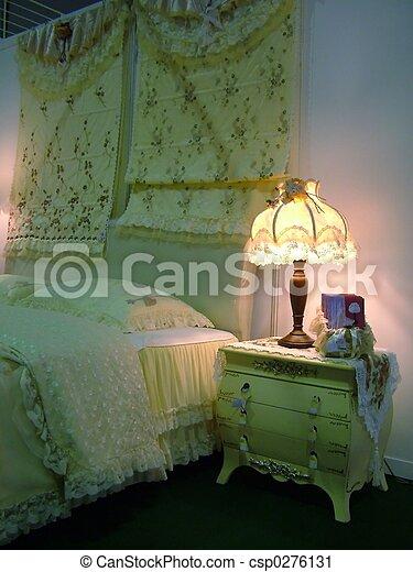 chic, chambre à coucher - csp0276131