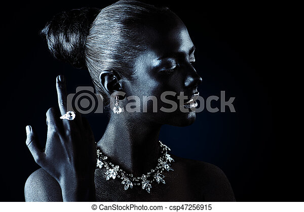 Chic Life Accessories Fashion Jewellery Concept Portrait Of A