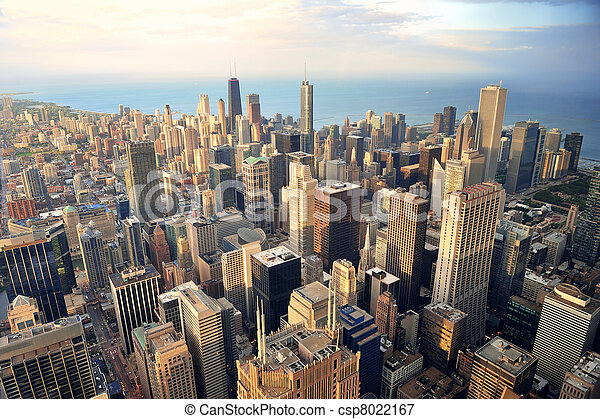Chicago aerial view - csp8022167