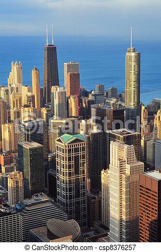 Chicago aerial view - csp8376257