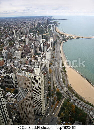Chicago aerial view - csp7623462